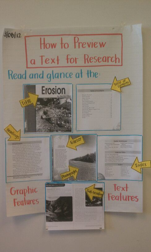 How to Preview Texts for Research--MAKE THIS