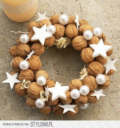 Christmas Wreath with Walnuts