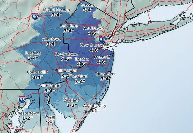 NJ weather update: What to expect from weekend snowstorm when the snow will arrive