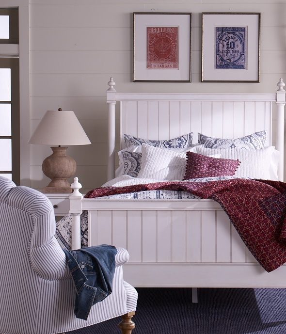 Blue-and-white paisley seersucker says summer. (Shown: Darley paisley bedding; accents: Jayden quilt and pillow): Guest Bedrooms, Vintage Bedrooms, Master Bedrooms, Ethan Allen, Bedrooms Idea, Bedrooms Possibilit, Guest Rooms, Beaches Bedrooms, Ethanallen