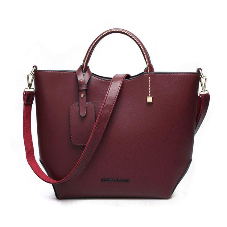 Европейский стиль женщина сумки мешок сумочка сумки винно красный оранжевый женщины сумка мессенджер ведро кожа мешок купить на AliExpress