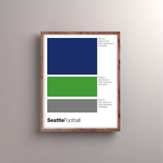 Design nerds can be sports fans, too. Show your team pride without making your home look like a sports bar. This print breaks down your favorite teams color swatches as Pantone, RGB, CMYK, and HEX with minimal Swiss design and, of course, Helvetica font. If youd like custom sizes,