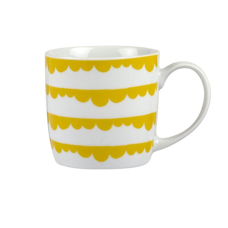 George Home Yellow Scallop Mug | Kitchen | ASDA direct