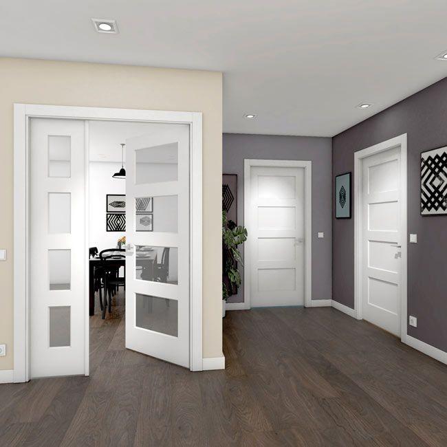 Puerta de interior maciza BOSCO BLANCA Ref. 18077654 - Leroy Merlin