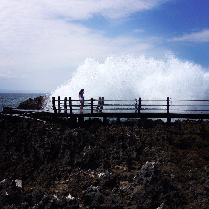 Water blow at Nusa Dua Bali