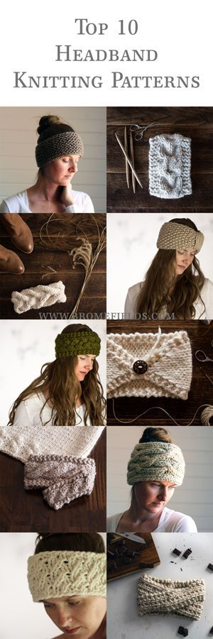 Top 10 Headband Knitting Patterns eBook : 24 pages : Brome Fields