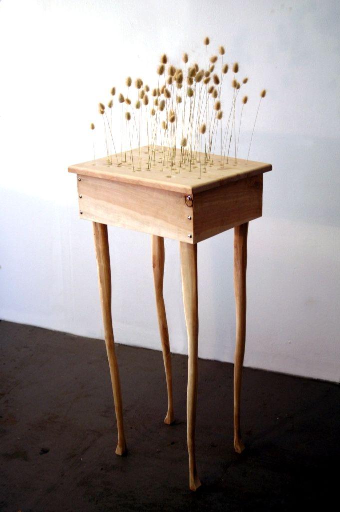 """2016 -  Miranda Moss """"Fidget (The Air Grows Restless Still)' Cottontail Grass, Cottonwood, Bubblegum & Electrical Components"""