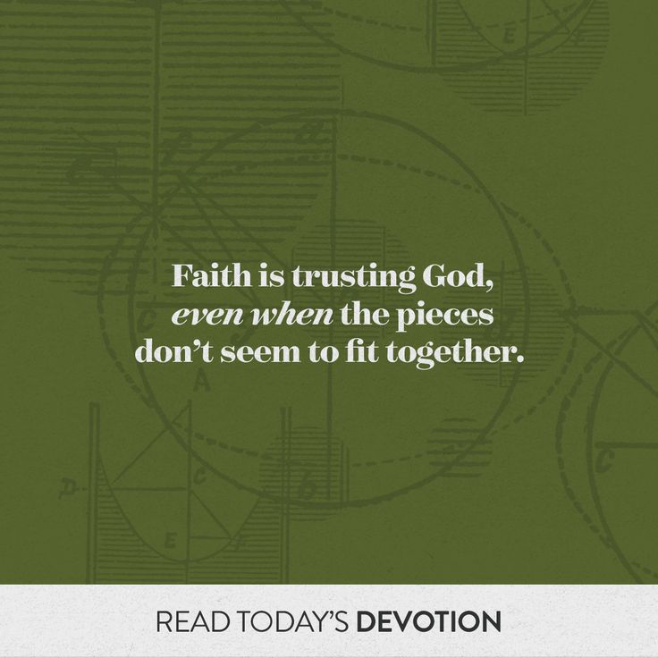 Following God requires living by faith. That means trusting the Holy Spirit to guide us when we don't see how all the pieces fit together (John 16:13); believing that God will always work for our good and His glory (Rom. 8:28); and desiring to please our Father. Will you be ready when He calls?