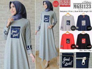 Baju Gamis Muslim Lengkap: grosir busana remaja MGS1123