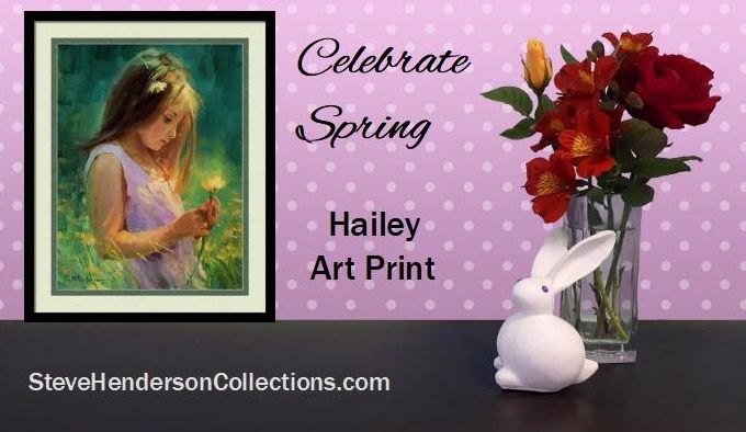 Hailey, framed art print from Steve Henderson Collections celebrating the innocence of childhood and the joy and promise of spring in the country.