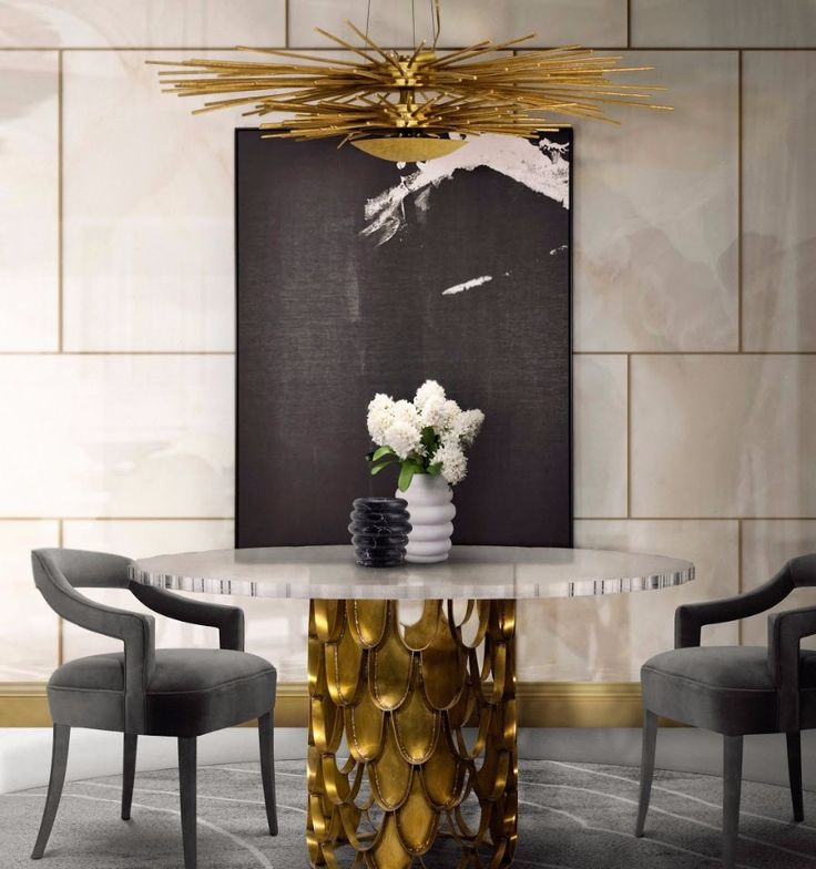 KOI Round Dining Table Contemporary Design by