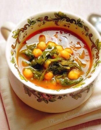 soupe de pois chiche tomates cumin