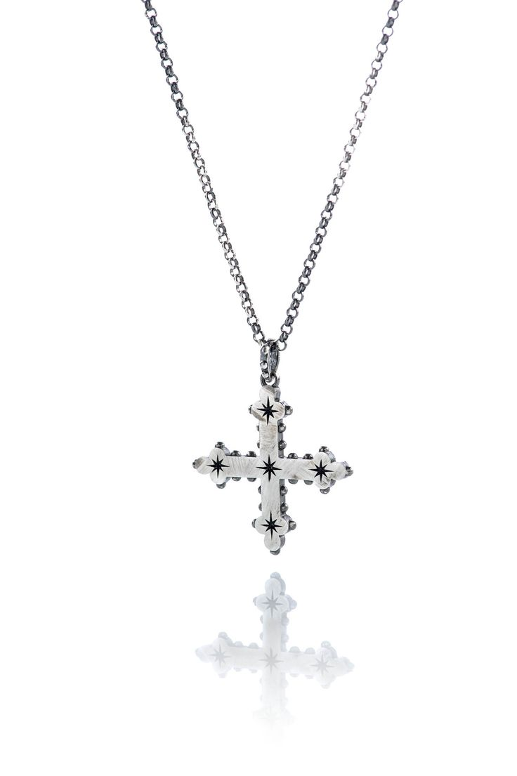 New cross with studs! #cross #necklace #ottojewels