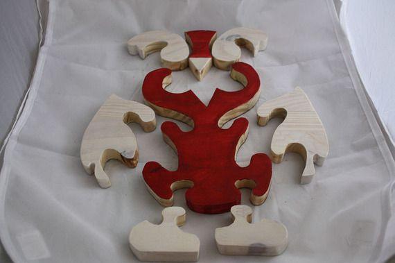 chouette bois en puzzle