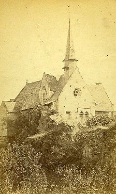 Chapel ND Behuard 49170 Angers France Old CDV Vetault Photo 1870