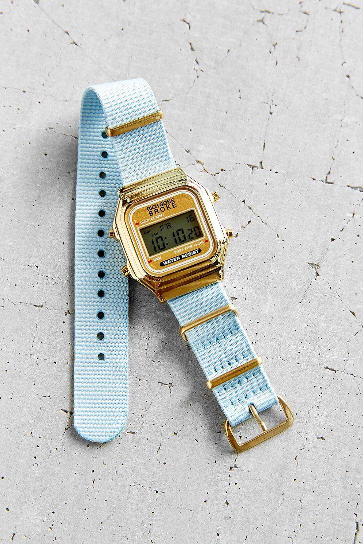 rich gone broke blue nato digital watch jewelry. Black Bedroom Furniture Sets. Home Design Ideas