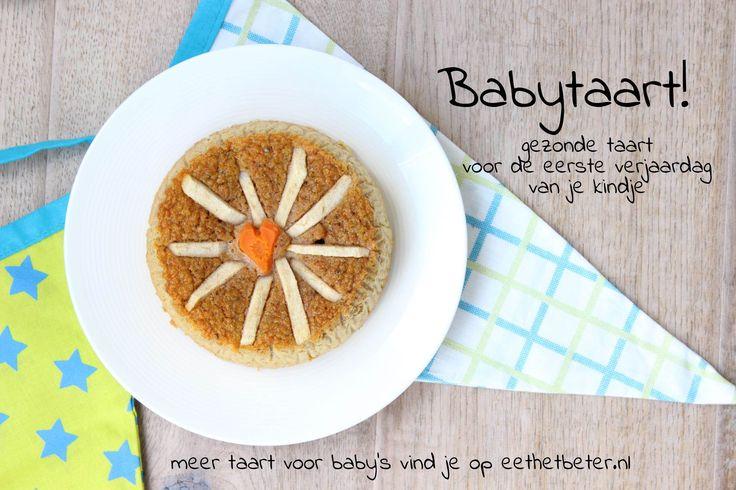 Recept voor taart voor baby's eerste verjaardag - zonder suiker, zout of boter