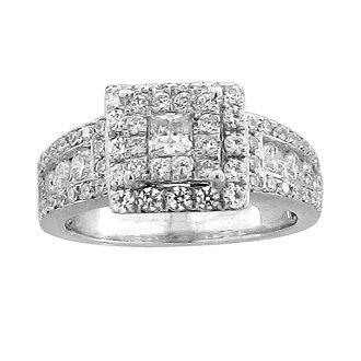 White Gold Engagement Ring with Diamonds. - Charisma Collection  14 K | 1.30 ctw  ----------------------------------------   Anillo de compromiso en oro blanco. Decorado con diamantes.  14 K | 1.30 ctw