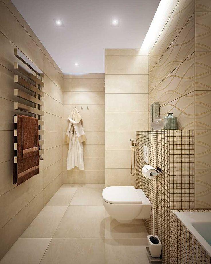 Решение для совмещенной ванной комнаты не большого размера. #небольшая_ванная_комната #совмещенная_ванная_комната