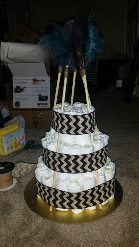 Tribal Baby Shower Cake