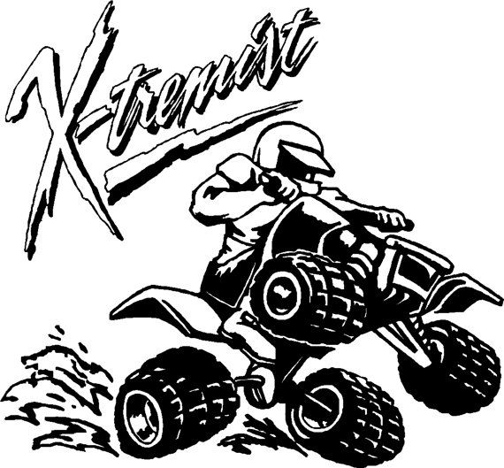 Extreme 4Wheeler Sports Decal  Free Shipping by LivesayGrafix, $9.95