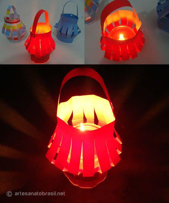 Como fazer lanterna de papel para festa junina passo a passo. Os enfeites que não podem faltar: Balõezinhos e as lanternas de festas juninas de São João
