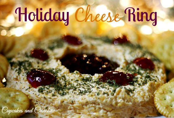 Holiday Cheese Ring Appetizer: The perfect combination of flavors ~ cheesy sweetness #KraftHolidaySavings