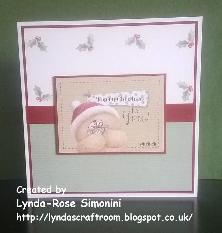 Christmas card made with Forever Friends Kraft Notes