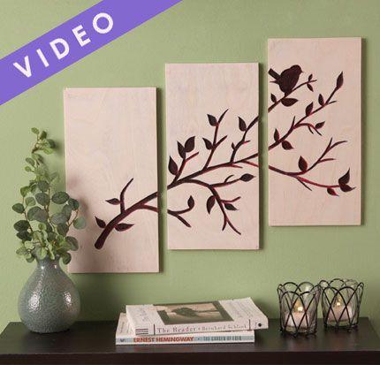 Aprende a realizar cuadros de madera grabados