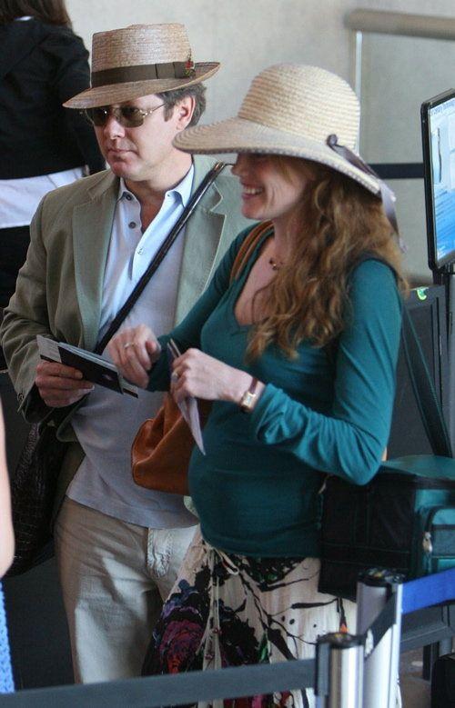 James Spader and wife Leslie.