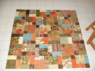 Charm Square Quilt (45 squares required)