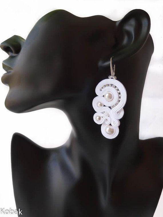 Soutache Bridal Set Soutache Earrings Pendant by SoutacheSisters