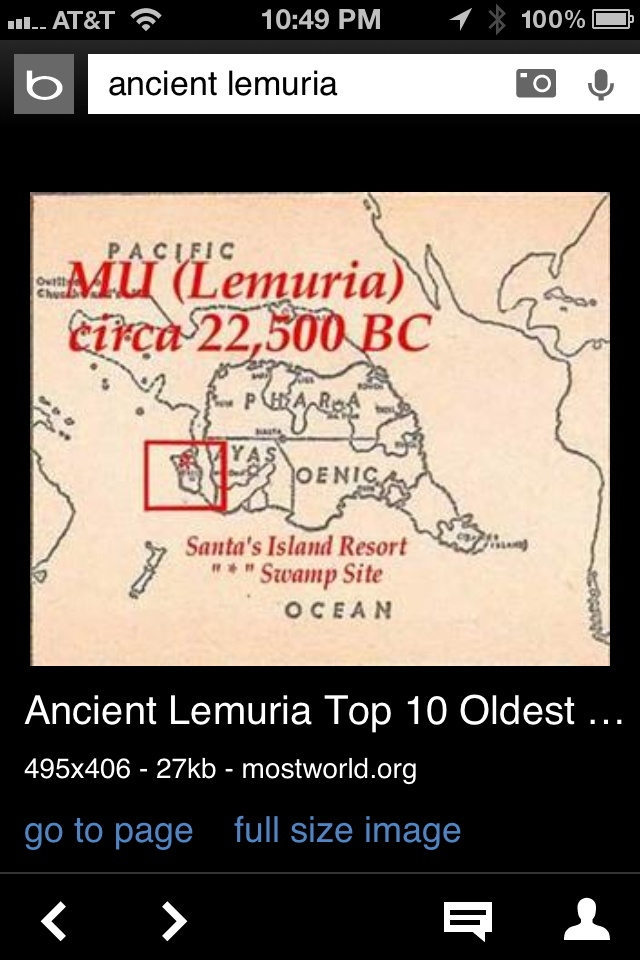 Ancient sunken land of Mu (Lemuria) in Pacific Ocean