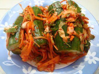 Огурчики по-корейски - вкус просто шикарный!
