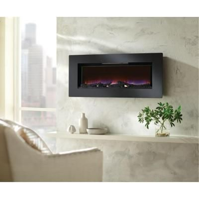 Home Decorators Collection Mirador 46 In Wall Mount Electric Fireplace In Black 47hf100grg At