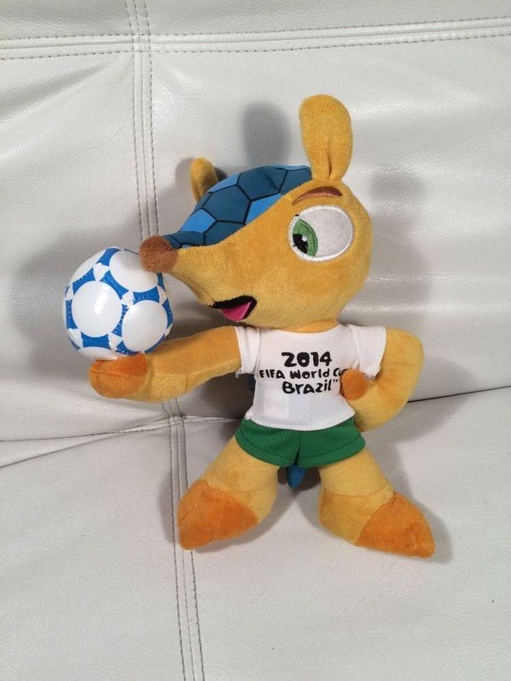 "2014 FIFA Brazil WORLD Cup MASCOT Fuleco PLUSH Armadillo ANIMAL Doll 7"" Clean  | eBay"