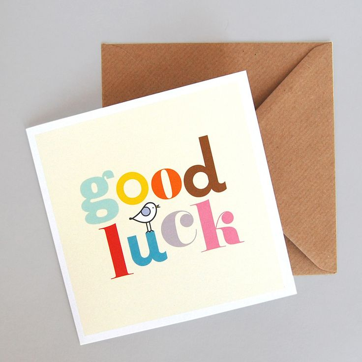 Good Luck Card & Envelope // Mrs. Booth