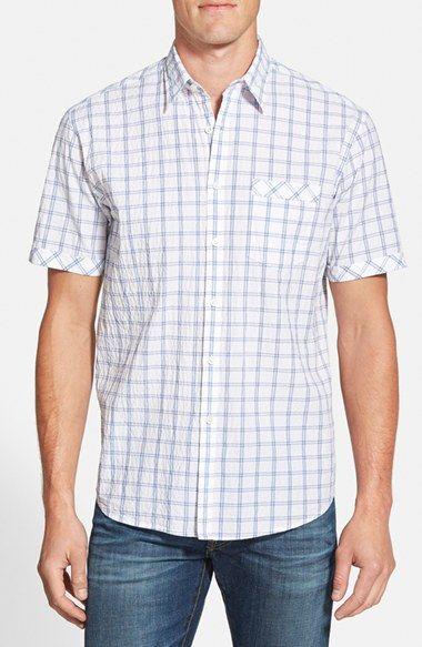 James Campbell 'Cavett' Regular Fit Plaid Button Front Shirt