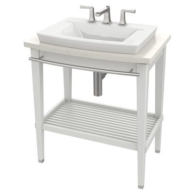 American Standard Townsend 16″ Pedestal Bathroom Sink with Overflow Sink Color: White