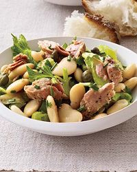 Butter Bean, Tuna and Celery Salad | Big, creamy butter beans give a tuna and celery salad terrific heartiness.