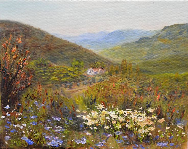 Toer Suid Afrika - by Zelda Alistoun paintings Oil on Canvas  200 x 250mm