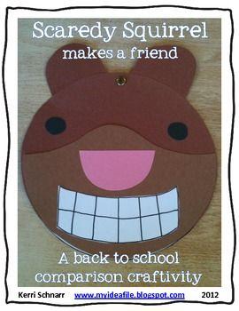 Scaredy Squirrel makes a friend: a back to school craftivity - Kerri Schnarr - TeachersPayTeachers.com