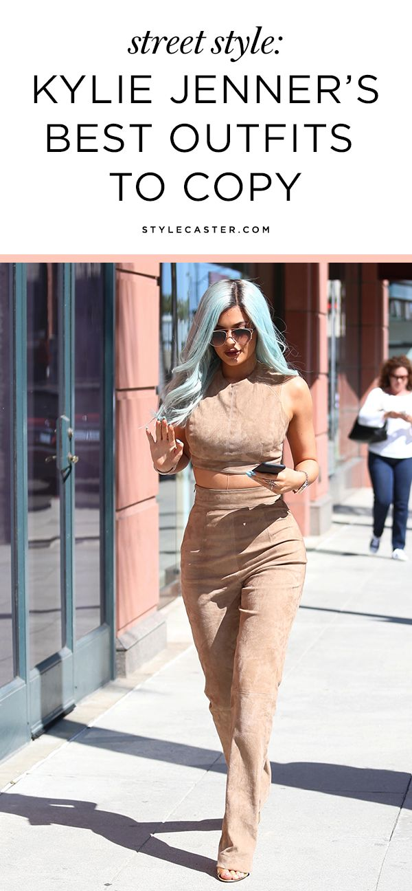 Kylie Jenner's Best Street Style Outfits to Copy | She's most know for her next-level makeup skills and ever-changing hairstyles, but her fashion game is on point too. With a killer body and signature sexy style, Kylie is constantly serving us bold fashion looks from head-to-toe. Here are 45 of Kylie's best outfits to copy ASAP.
