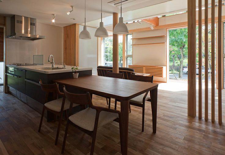 透間のある家【Slits house】  #igawa_arch #architecture #house #kitchen