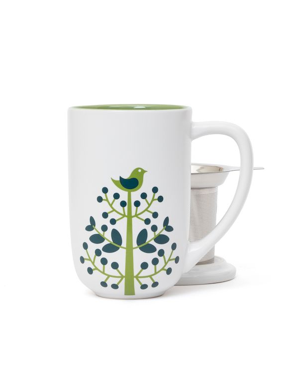 A little birdie told us about this adorable Nordic Mug print. With infuser  lid.