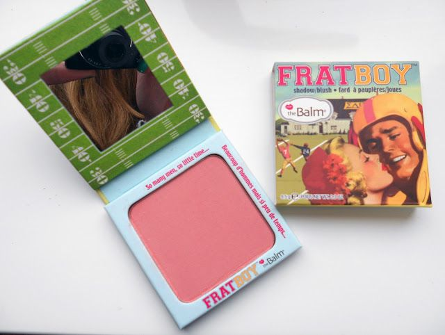 The Balm Frat Boy Blush: Gives NARS blushes serious competition. Frat Boy is a warm, peachy pink, without any sparkle.