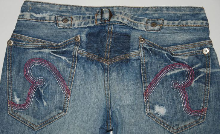 REPLAY JEANS WV474B 032  STRAIGHT LEG FADED DISTRESSED JEANS ULTRA LOW W29 L31