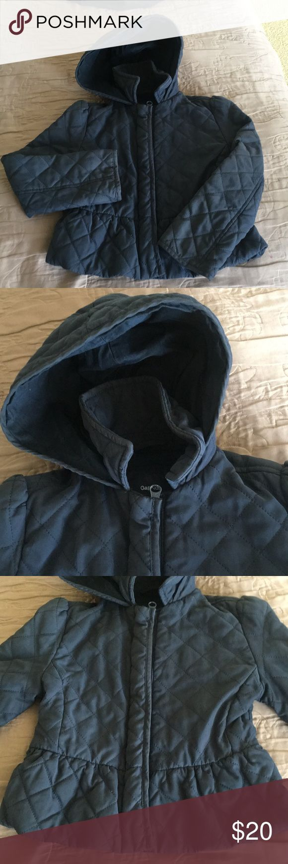 Navy Gap Jacket Navy blue quilted Gap jacket. Great cut. Has a hood. Nice and warm. Great color and cute. GAP Jackets & Coats