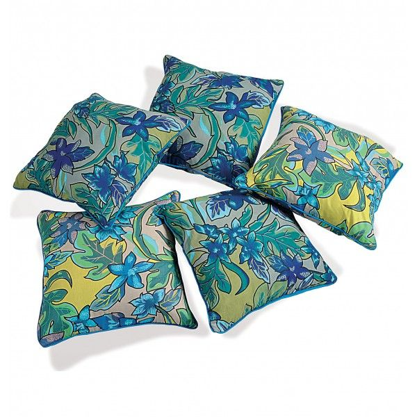 Blue Orchids Cushion Cover- Add a touch of luxury to any room or settings.