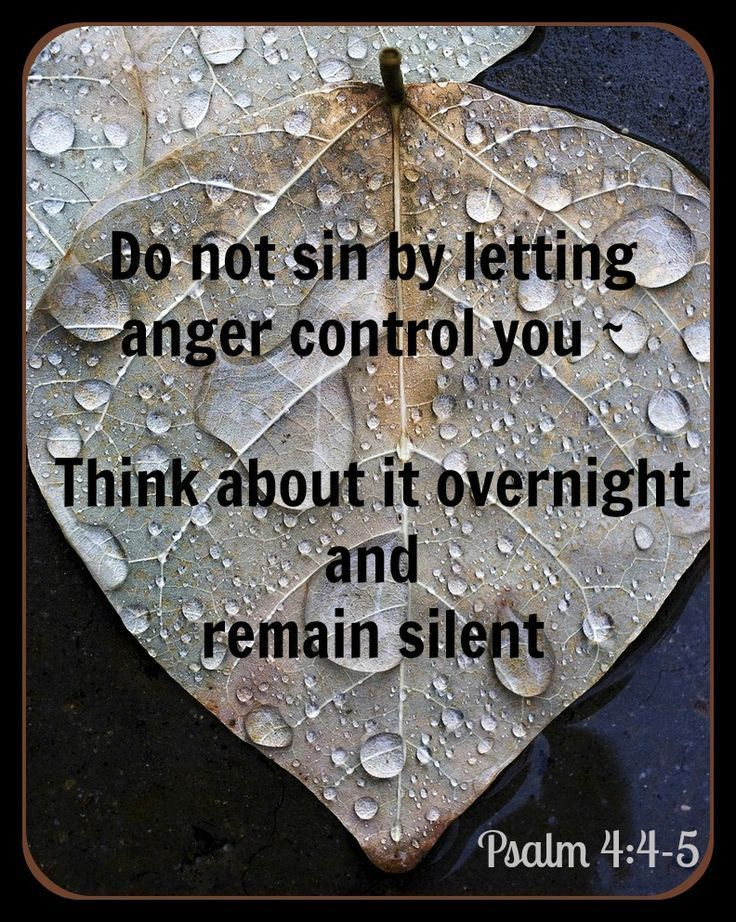 Psalm 4:4 Controlling your Anger